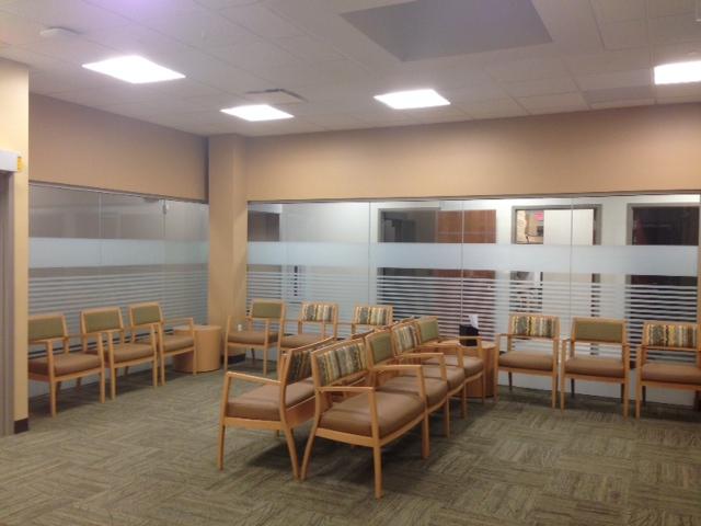 Sunray decorative design window film uh euclid health for Window design center