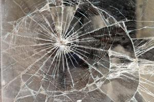 Broken glass.